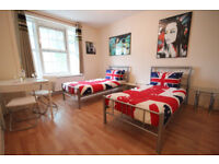 Large 4 double bedroom flat with no lounge near New Cross and Deptford.