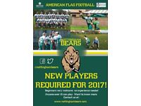 American Flag Football Club- New players wanted