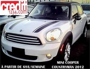 2012 MINI Cooper Countryman, À PARTIR DE 58$/SEMAINE 100% APPROU