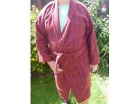 Warm soft men's dressing gown