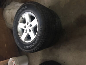 5   2015 Jeep Wrangler rims and tires
