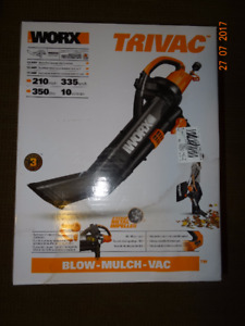 WORX WG509 Electric TriVac Blower/Mulcher/Vacuum New in Box