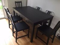 Ikea table + 4 chairs £80