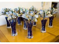 Handmade Wedding table centrepieces and top table/cake decoration