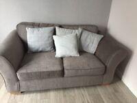 2 seater grey next sofa