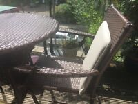 Table and chairs set rattan