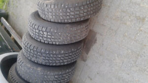 Avalanche X- treme studded winter tires off a 2005 Caravan