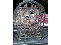 RUSTIC OLD CAST IRON WINE CAGE