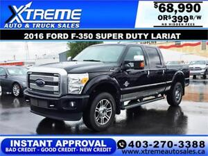 2016 Ford F-350 Super Duty Lariat *INSTANT APPROVAL* $339/BW!