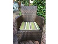 Bargain price £10 for 8 patio chair CUSHIONS/PADS in very good condition
