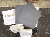 Salvatore Ceramic Black Slate Effect Floor Tiles. 12 Boxes - 11 Tiles per box