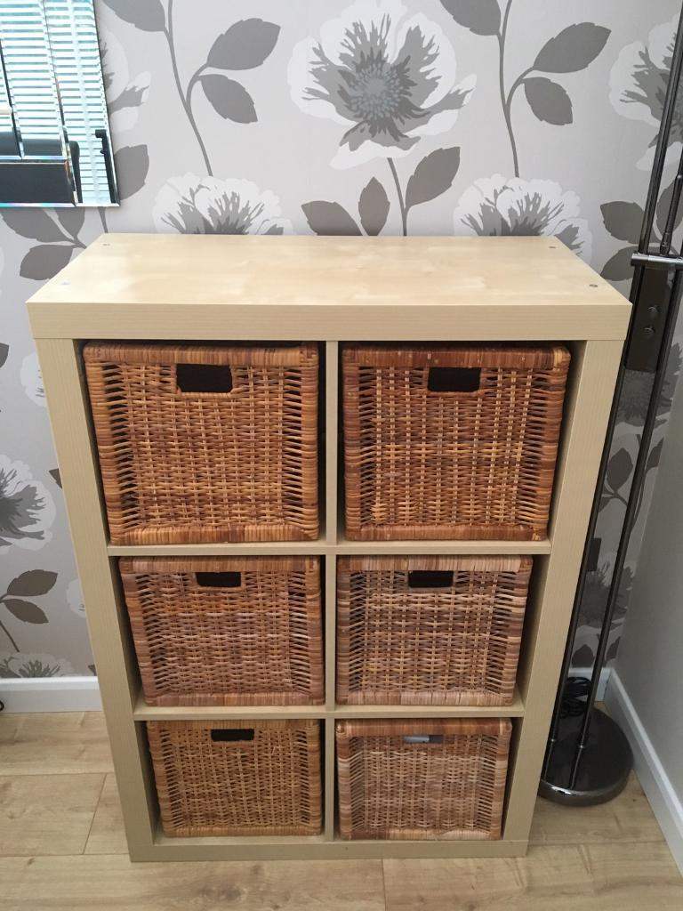 Kallax Beech Effect 6 Cube Display Storage Unit Including