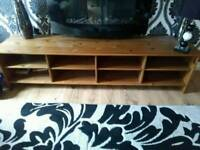 Tv unit solid pine very good cond