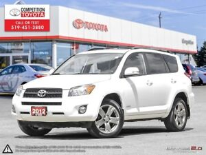2012 Toyota RAV4 Sport One Owner, No Accidents, Toyota Serviced