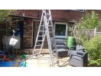 Hailo aluminium 3 tier ladder