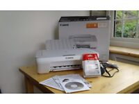 Canon PIXMA printer, scanner and photocopier with ink cartridge Virtually brand new and boxed