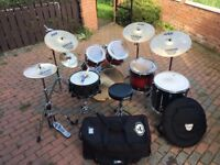 ### What A Steal – Full Mapex M Series Kit – Sabian Cymbal Set – Porkpie Snare - Many Free Extras