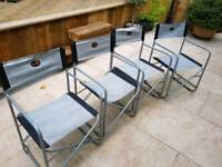 Folding camping chairs x 4
