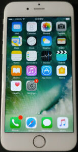 White/Silver IPhone 6 64GB Unlocked - Great Condition w/case