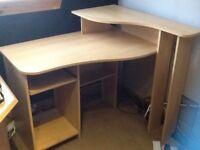 Computer desk (beech)