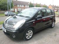 2008 Nissan Note 1.4 16v Acenta 5DR 08 REG Petrol Black