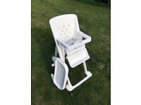 High chair collapsible and telescopic, also ideal for travel