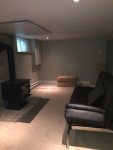 September 1st- Quiet south end, partially finished 1 bedroom