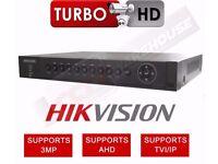 4 CHANNEL HIKVISION DS-7204HUHI-F1/N DVR 3MP TURBO 3.0 1080P AHD TVI CVBS