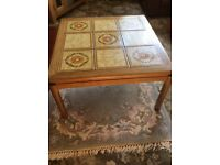 'G' Plan square coffee table teak with tiles very good condition