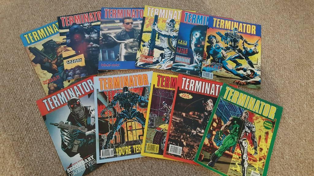 Rare TERMINATOR comics no's 1 to 11 release year 1991