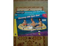 Discovery - 3 Man Inflatable Boat with Oars