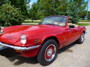 Beautiful 1979 Triumph Spitfire convertible in top condition!!!