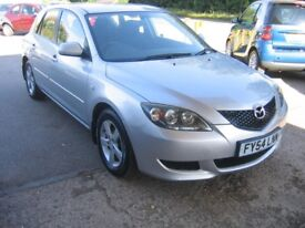 54 REG MAZDA 3 1.6 TS IN SILVER, 2 PREVIOUS KEEPERS, ALLOYS, CD PLAYER,LONG MOT, ONLY £1695