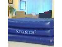 Full sized double Inflatable bed.