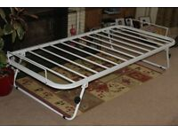 Next Trundle - White 3ft pull-out metal underbed