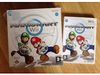 MARIO KART WII GAME AND STEERING WHEEL