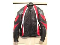 Mens Leather Motor Bike Jacket