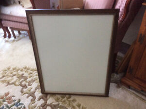Wood frame with glass