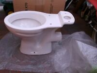 WHITE TOILET PAN (NEW NEVER USED.)