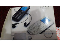ALCATEL OT-S211 , BRAND NEW , white pink , Classic , locked to Virgin Mobile , Phone Handset