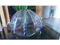 Metal and glass lightshade