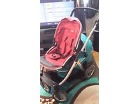 Oyster max double pushchair **can post**
