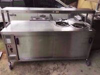 BAIN MARIE CATERING PLATE WARMER COMMERCIAL MACHINE DINER TAKEAWAY RESTAURANT CAFE KITCHEN SHOP PUB