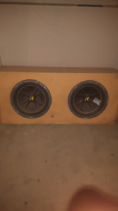 2 10' kicker comp subs with box