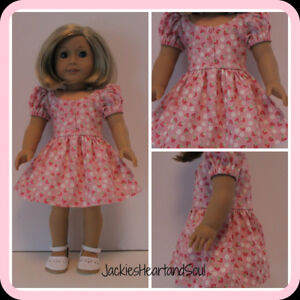 American Girl Doll Clothes Strawberry Tea Dress