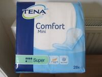 tena comfort mini pack of 28 x 6 packs