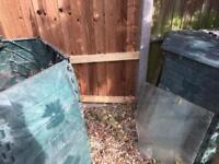 Compost bins x 2