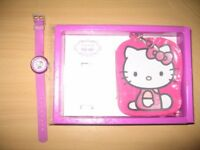 Girls Flik Flak (Swiss Made) Hello Kitty Watch ZFLN034 with Coin Purse Set