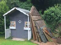 Two garden sheds free to collect