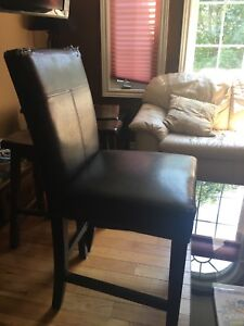 Bar hight leather chair